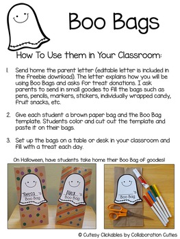 Boo Bags {A Halloween Behavior Management Freebie for October}
