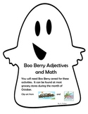 Boo Berry Cereal Adjectives and Math-Halloween Activities