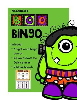 Boo Bingo-Sight Words