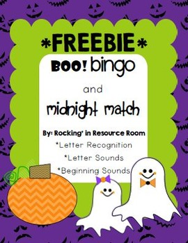Boo Bingo and Midnight Match *FREEBIE*