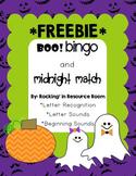 Boo Bingo and Midnight Match *FREEBIE*