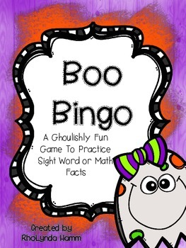 Boo Bingo and Tic-Tac-Toe For Sight Word or Math Review