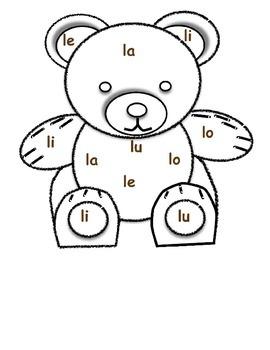Boo Boo Bear Phonics Blend Game