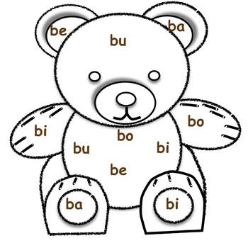 Boo Boo Bear Phonics Blend Game- Entire set!
