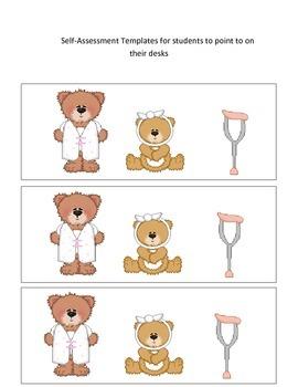 Boo Boo Bears Self-Assessment Poster