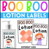 Boo Boo Lotion Labels