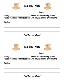 Boo Boo Note