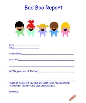 Boo Boo Report