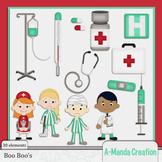 Boo Boo's and Hospital Themed Clip Art