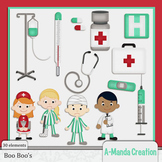 Boo Boo's and Hospital Themed Clip Art