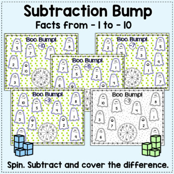 Boo Bump!  Halloween Addition & Subtraction (Freebie in the Preview!)