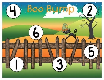 Boo Bump - A Halloween Themed Number Recognition, Counting, Subitizing & Game