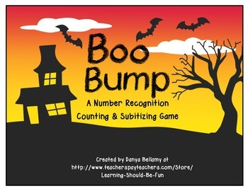Boo Bump - A Halloween Themed Number Recognition, Counting