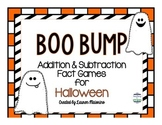 Boo Bump- Halloween Addition and Subtraction Fact Games