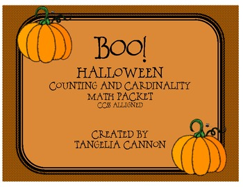 Boo! Common Core Math Packet
