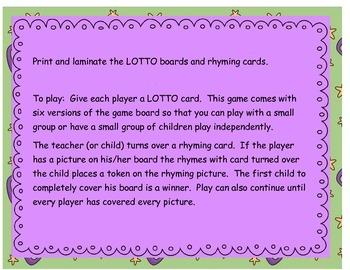 Boo Crew Rhyming Lotto