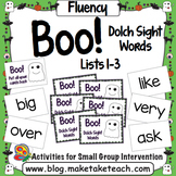Sight Words - Boo! Dolch Sight Words Lists 1-3