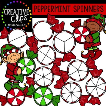 Peppermint Spinners Christmas Clipart {Creative Clips Clipart}