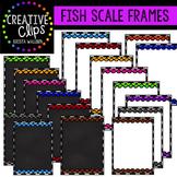 Fish Scale Frames {Creative Clips Digital Clipart}