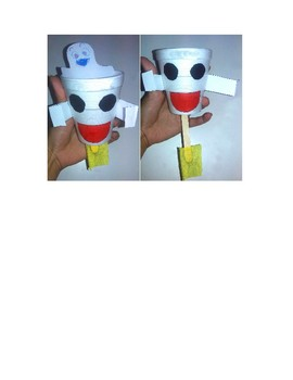 Boo!-Ghost Puppet Mummy Cups