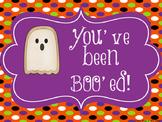 Boo Grams: You've Been Boo'ed