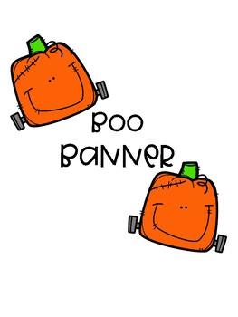Boo! Halloween/Fall Banner