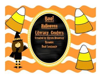 Boo! Halloween Literacy Centers