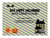 Boo! Halloween Math and Literacy Games and Centers