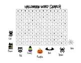 Boo! Halloween Word Search