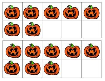 Boo Halloween ten frames