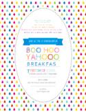 COMPLETELY EDITABLE - Boo Hoo Yahoo Breakfast Invitation