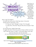 Boo Hoo Sight Word Game - Reading Street Unit 2- Common Co