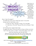 Boo Hoo Sight Word Game - Reading Street Unit 5- Common Co