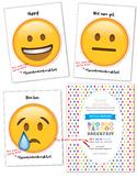 Boo Hoo Yahoo Breakfast Invitation & Emoji Cards BUNDLE