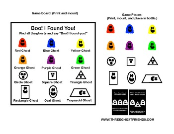 Boo! I Found You! Find Colors and Shapes in a Bottle