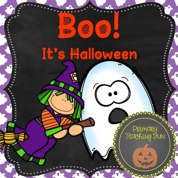 Emergent reader, full-size book, booklets, and workshheets: Boo! It's Halloween!