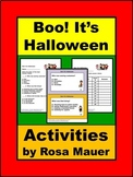 Boo! It's Halloween Literacy Activities