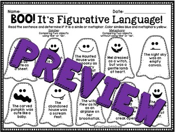 Boo! It's Figurative Language (Halloween Literary Device Unit)