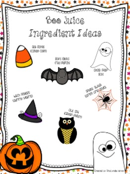 Boo Juice- A Halloween How-To Writing Activity