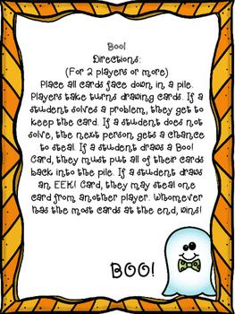 Boo Math Addition Game
