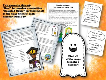 Boo! Number Recognition Game