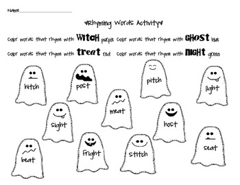 Boo Packet for First and Second Graders