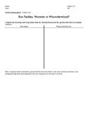Boo Radley: Monster or Misunderstood?