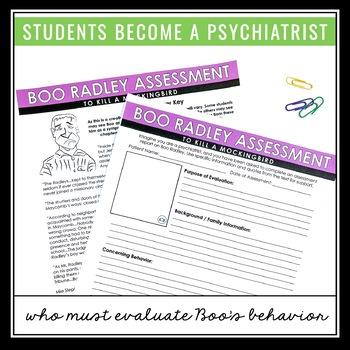 TO KILL A MOCKINGBIRD ASSIGNMENT - BOO RADLEY PSYCHIATRIC ASSESSMENT