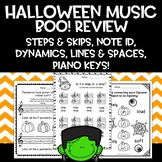 Halloween Elementary Music Boo Review Worksheets (No Prep!)
