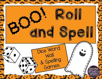 Halloween Word Wall and Spelling Word Dice Games