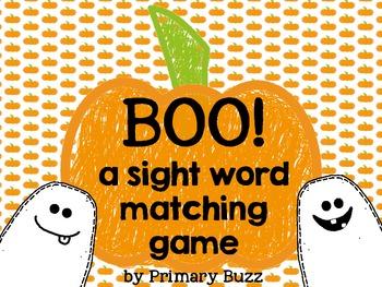 Boo! Sight Word Game
