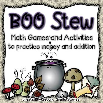 Halloween Boo Stew ~ Money and Addition Activities