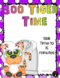 Boo Tiger Time to the 15 minutes Math Halloween File Folder Game Kindergarten