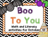 Boo To You - Halloween Themed Activities
